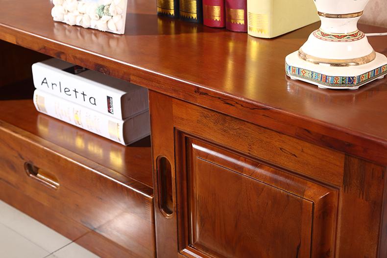 丽姿 香樟木电视柜 古典现代中式电视柜客厅全实木家具地柜简约电视