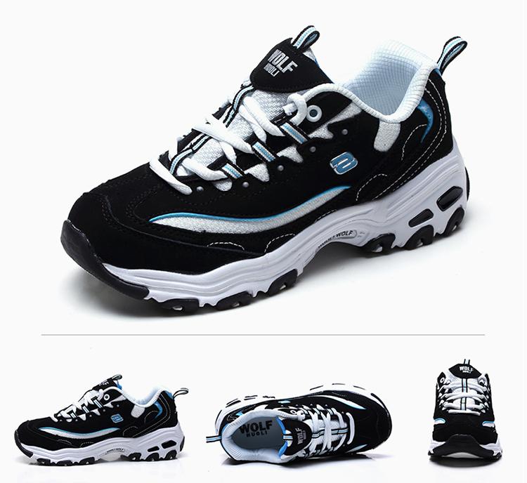 活力狼 huoli wolf 熊猫黑白女士经典款休闲鞋休闲运动鞋