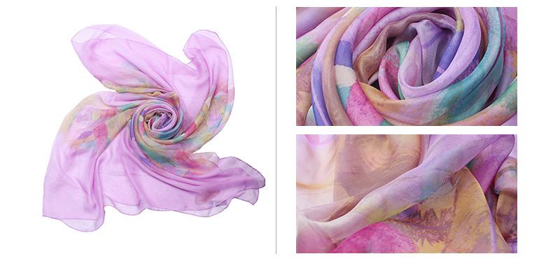 大长纱巾的各种围法图解