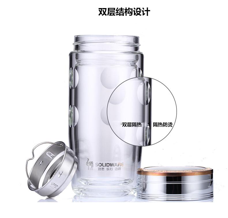 思乐得|水/茶具,-思乐得 solidware 双层玻璃杯商务