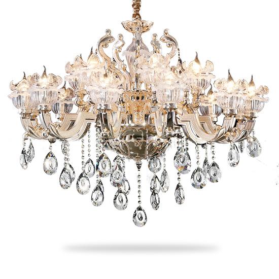 奥朵 水晶吊灯复式楼客厅欧式奢华大吊灯蜡烛卧室餐吊灯cl10674(免费