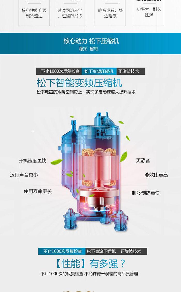 压缩机 3匹全直流一级变频柜式空调