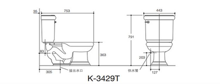 马桶需要测量坑距: 墙到排污孔中心点的位置