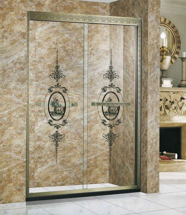 卫欲无限 欧式304不锈钢玻璃淋浴房定制8002/8004(0.1㎡补订)