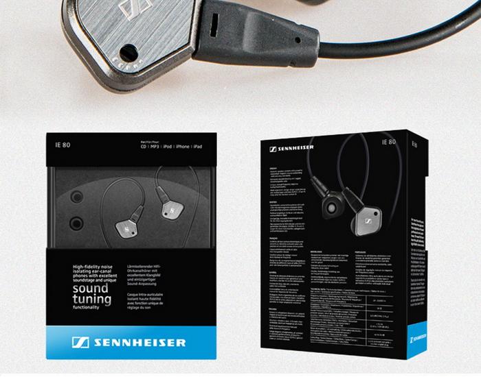 森海塞尔(sennheiser) ie80 经典入耳式hifi耳机