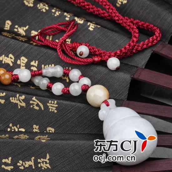 """天然翡翠""""福禄""""编织项链"""