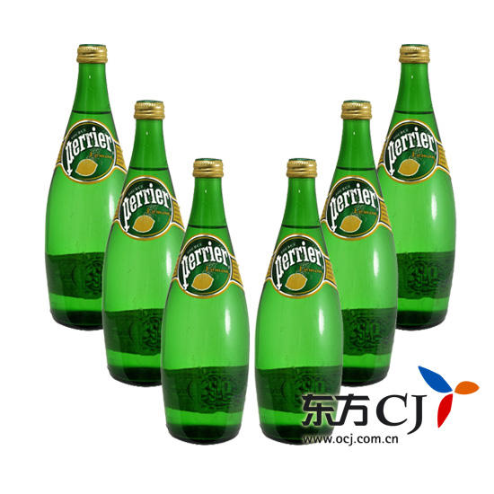 Perrier 饮料, 法国 巴黎 含气柠檬味饮料 750ml 6瓶装 东方购物,东方图片