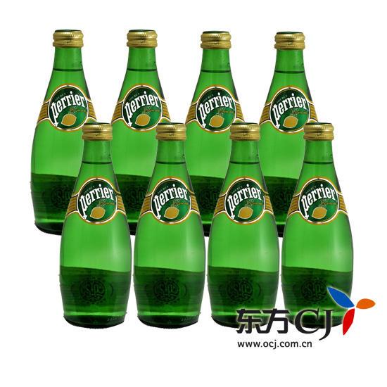 Perrier 饮料, 法国 巴黎 含气柠檬味饮料 330ml 8瓶装 东方购物,东方图片
