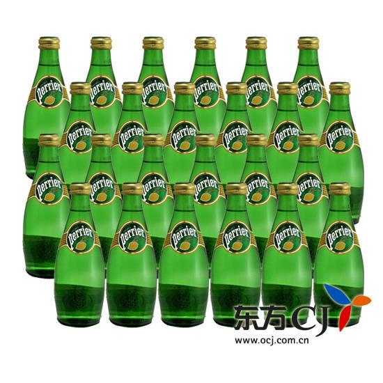 Perrier 饮料, 法国 巴黎 含气柠檬味饮料 330ml 24瓶装 东方购物,东图片