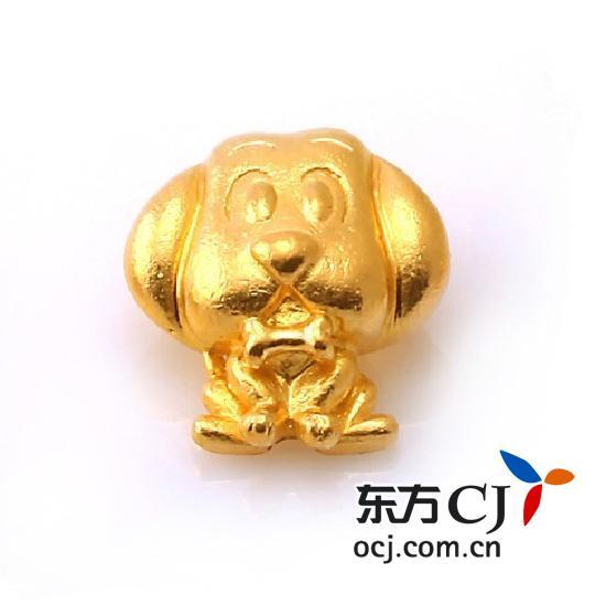 """中国黄金""""q版12生肖-狗""""千足金吊坠图片"""