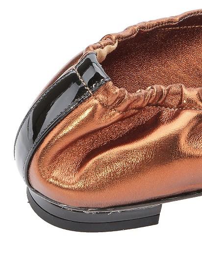 牛皮材质金属竹节装饰女士平底休闲鞋