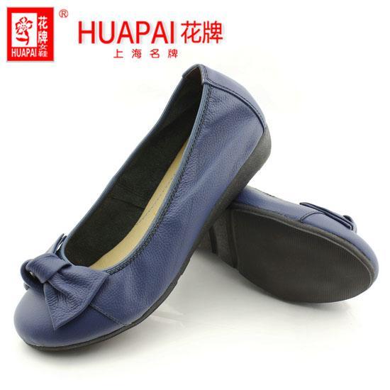 上海皮鞋厂头层牛皮蝴蝶结女鞋