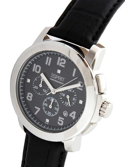 ESPRIT 手表, ESPRIT圆形表盘指针式三眼计时男士手表 东方购物,图片