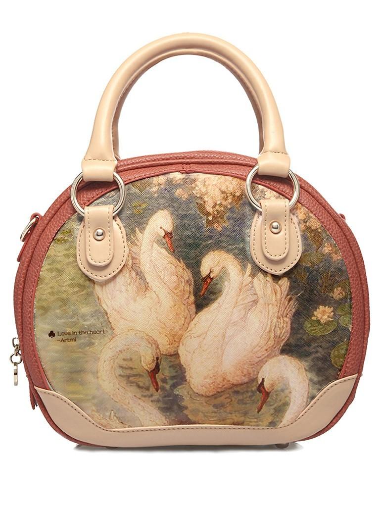 阿特密女士pu潮流时尚甜美可爱手提斜挎包