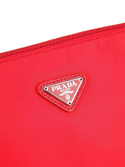 普拉达 PRADA 化妆包, PRADA普拉达尼龙材质经典logo装饰女士化
