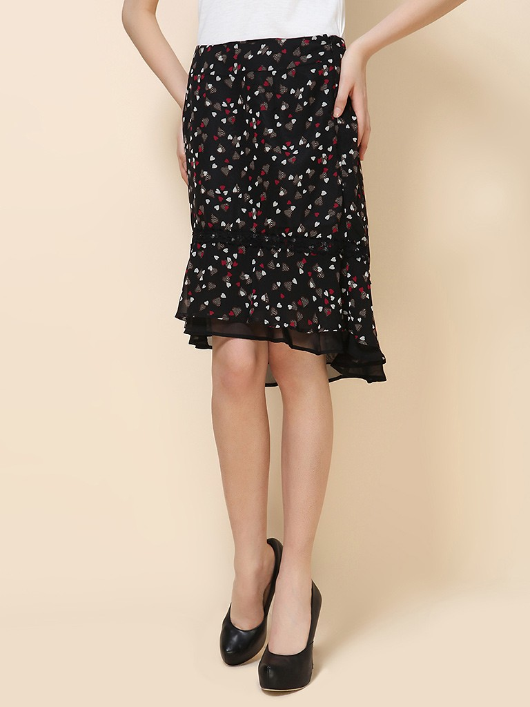 image 半身裙,-image几何印花图案半身裙--东方购物