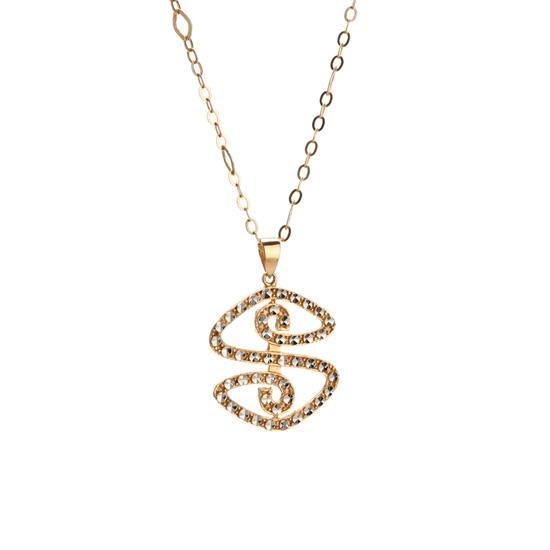 """""""高音符号""""18k金项链--东方购物"""