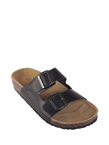 PF牛皮软木男士潮流沙滩凉拖鞋