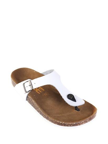 PF牛皮软木男士沙滩人字凉拖鞋