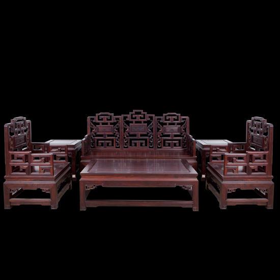 航管红木福寿沙发套组(以旧换新)图片