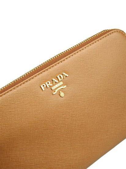 PRADA 钱包 钥匙包 卡包, PRADA普拉达棕色牛皮材质经典logo装