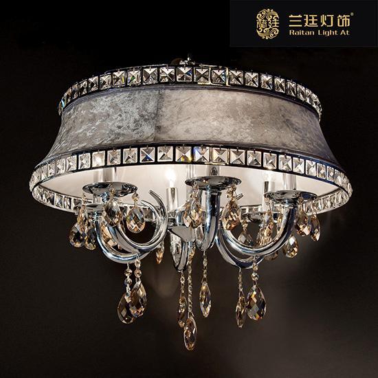 兰廷欧式豪华客厅/餐厅烛形6头水晶吊灯pd6012/6