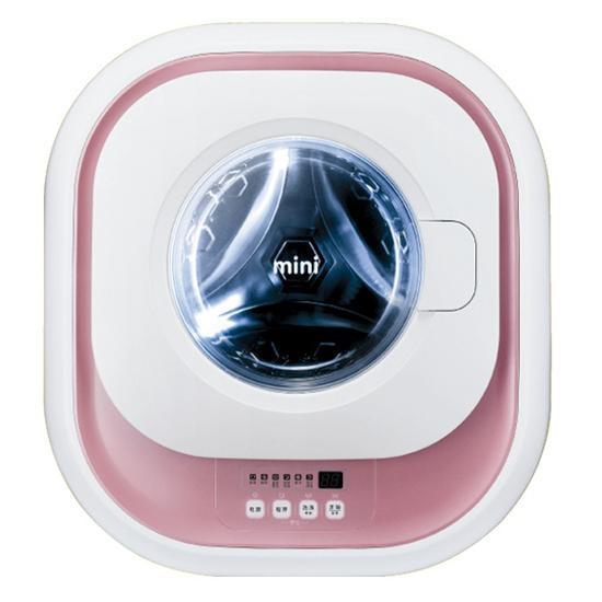 [韩国daewoo] 大宇mini壁挂式滚筒洗衣机 xqg30-882d 粉色