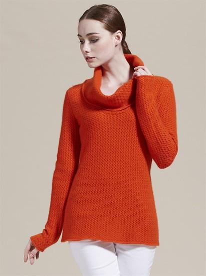 saraxphillips7针时尚镂空编织纹理荡领中长款羊绒衫
