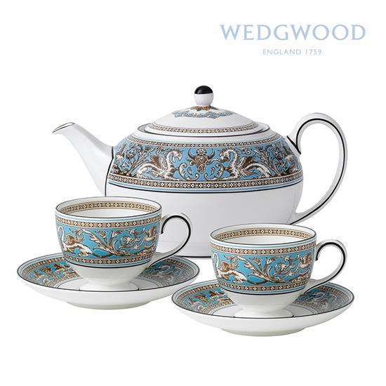 wedgwood丝绸之路系列骨瓷下午茶组合(2杯 2碟 1壶)