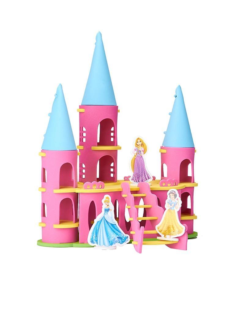 disney/迪士尼xprincess二合一立体公主城堡xeva拼插玩具