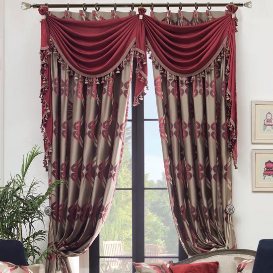 紫嫣红高档提花客厅窗帘宽4.1米 7米高2.6米 免费上门测量安装