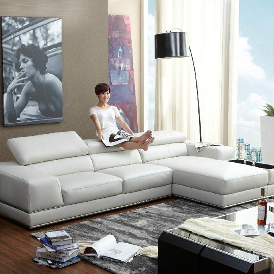 芬兰名师设计客厅皮艺沙发l