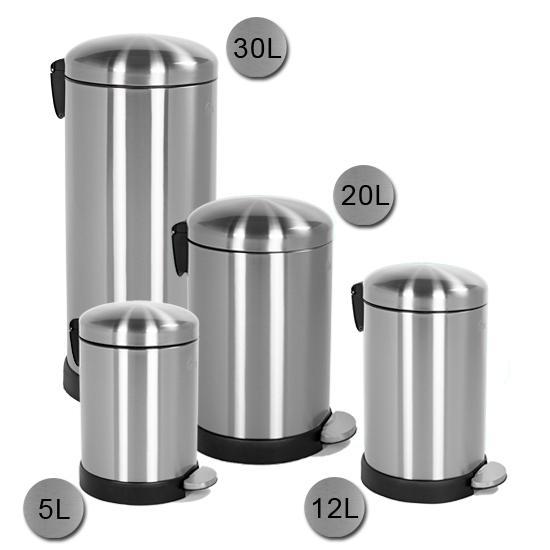 圆形不锈钢垃圾桶5l